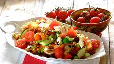 Marinated mushroom, lentil and feta salad -- Knorr Marinated Mushrooms, Stuffed Mushrooms, Romantic Meals, Romantic Recipes, Clean Eating, Healthy Eating, Feta Salad, Cooking Classes, Clean Recipes