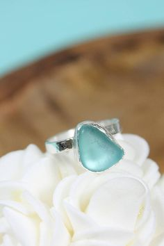 ***Custom Size Sea Glass Ring***  These gorgeous pieces of sea glass were found by me on my favorite sea glassing beach (seen in the about me section) in South Korea. It can be so frustrating to see a ring you love, but it isnt available in your size. This ring is custom made! Pick your stone, pick your size, and I will hand craft it in my home studio! ***Allow One Week for Creation***  These rings are made with sterling silver and fine silver. They have a simple setting and a hand textured…