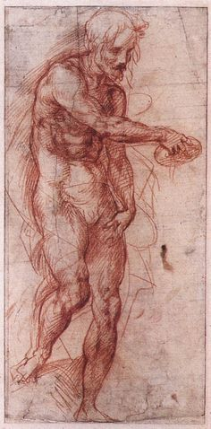 le-desir-de-lautre:  Andrea del Sarto (Italian, 1486-1530) Study for the Baptism of the Peoplec. 1515, Red chalk, 314 x 186 mm, National Gallery of Victoria, Melbourne
