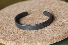 Damascus Steel Bracelet Hand forged Hand made by boardsNY on Etsy, $120.00