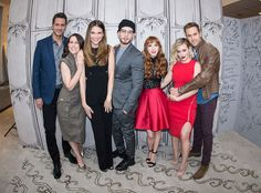 Sutton Foster, Nico Tortorella, Miriam Shor, Hilary Duff, Peter Hermann, Molly Bernard & Dan Amboyer from The Big Picture: Today's Hot Pics  The Younger cast poses during an AOL Build Speaker Series in NYC.