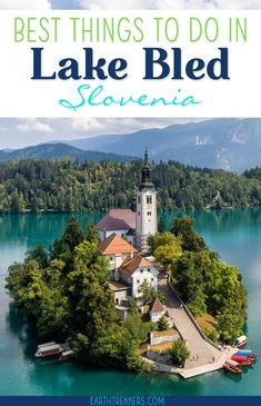 Best things to do in Lake Bled, Slovenia. Includes drone photos and day trip ideas to Vintgar Gorge and Lake Bohinj. #lakebled #slovenia #vintgargorge #travelideas