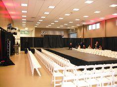 We setup a T shape stage for a fashion show.