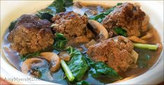 This antioxidant-rich, gut-healing, and thyroid supporting Winter Kale and Meatball soup makes for a quick and convenient meal loaded with B vitamins, and is healthful diet addition for those with MTHFR SNPs. Feel free to slow cook this soup on the stovetop for an even richer flavor! #TheMyersWay