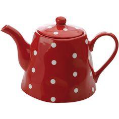 Maxwell & Williams™ Sprinkle Polka Dot Teapot (€26) ❤ liked on Polyvore featuring home, kitchen & dining, teapots, kitchen, misc, polka dot tea pot, stoneware teapot and polka dot teapot