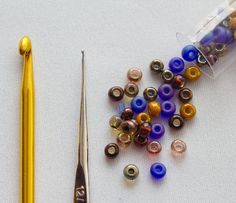 Crocheting with beads