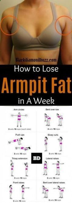 Fat Fast Shrinking Signal Diet-Recipes - Arm fat workout How to get rid of armpit fat and underarm fat bra in a week .These arm fat exercises will make you look sexy in your strapless dress and your friends will be jealous. Try it you do not have anyth # Arm Pit Fat Workout, Belly Fat Workout, Bra Fat Workout, Underarm Workout, Skinny Arms Workout, Arm Day Workout, Lose Stomach Fat Workout, Arm Muscles Workout, Easy Arm Workout