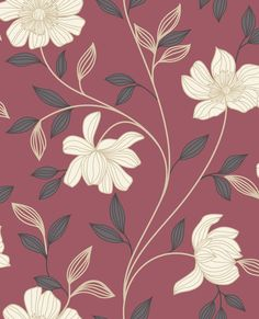Graham & Brown Red/cream camille wallpaper on shopstyle.com.au