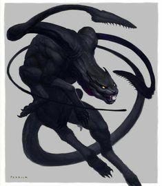 Dark Creatures, Mythical Creatures Art, Mythological Creatures, Magical Creatures, Monster Concept Art, Fantasy Monster, Monster Art, Dark Fantasy Art, Fantasy Kunst