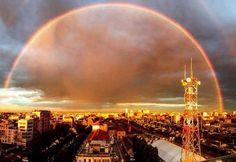 #rainbow.  Arcobaleno completo a Milano