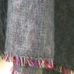 100% Alpaca Travel Blanket in Charcoal