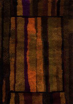 Mirella Bee Pattern Pollinating Visionist and Designer Rya Rug, Wool Rug, Textiles, Loom Weaving, Hand Weaving, Neutral Colors, Color Blocking, Scandinavian, Bee