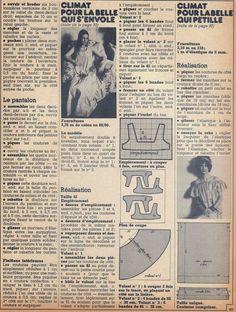 DIY vintage, couture, tricot, patron 70's,art and craft: La couture bleue