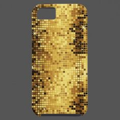 Gold Tones Retro Discoball Glitter iPhone 5 Covers