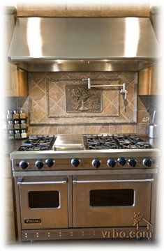 Viking Range-  My dream stove!  I literally lay in bed at night thinking about cooking on this stove!