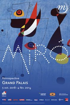 Bringing together nearly 150 works, this retrospective traces the technical and stylistic evolution of the artist. Miró creates from his dreams and opens the door to his poetic universe. Joan Miro, Illustrations, Illustration Art, Auguries Of Innocence, Miro Paintings, Paris Art, Expositions, Festival Posters, Fotografia