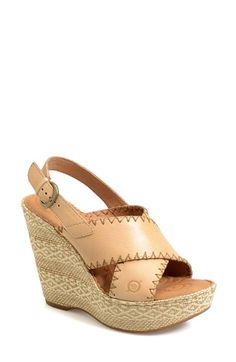 Free shipping and returns on Børn 'Adalina' Platform Sandal (Women) at Nordstrom.com. Børn's signature handcrafted Opanka construction adds to the timeless quality of an earthy, vintage-chic sandal featuring smooth Italian leather straps and a geometrically woven platform wedge.