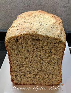 Pan de molde con semillas de amapola en panificadora de Lidl   BUENOS RATOS LOLA Bread Machine Recipes, Dried Fruit, Banana Bread, Desserts, Paninis, Breads, Natural, Recipes, Vegetarian Recipes