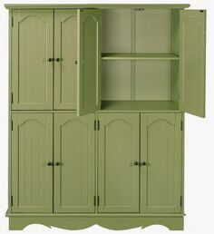 HD french country storage cabinet in green
