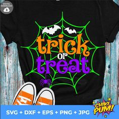 Trick or Treat SVG, Halloween Clipart Svg, Halloween Svg, Halloween Shirt, Halloween print, Cricut, Silhouette Cut Files