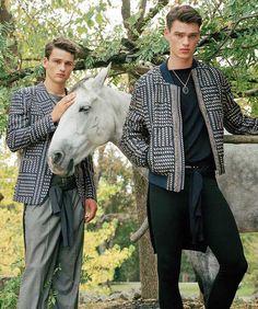 justdropithere:  Simon Nessman & Filip Hrivnak by Bruce Weber - Versace Spring/Summer 2017 Campaign