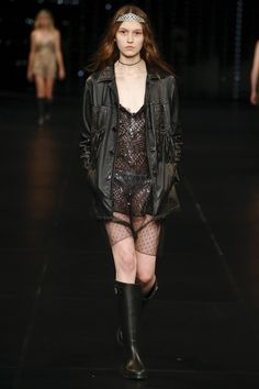 Saint Laurent Spring 2016 Ready-to-Wear Fashion Show - Monika Rush