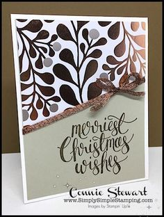 Year of Cheer Specialty Designer Series Paper - One Sheet Wonder - www.SimplySimpleStamping.com - September 6, 2017 blog post!