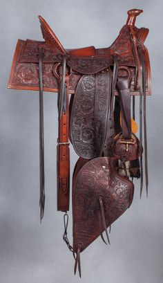 Bill Allison, L. Stone San Francisco) Tribute Saddle Set - Brian Lebel's Old West Events Wade Saddles, Horse Saddles, Cowboy Gear, Cowboy And Cowgirl, Western Tack, Western Saddles, Horse Gear, Horse Tack, Custom Leather