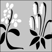 The Tapestry Flowers stencil - price £10.75