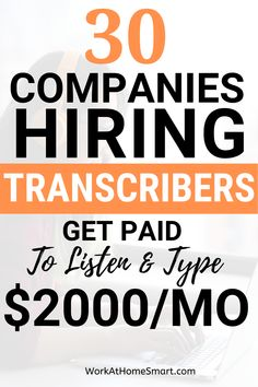 Looking for the best transcription jobs from home? Transcription can be a great way to make extra money working from the comfort of your house. Get started with these transcription jobs for beginners with no experience. Typing Jobs From Home, Online Typing Jobs, Online Jobs For Moms, Work From Home Careers, Jobs For Teens, Legit Work From Home, Jobs For Teachers, Work From Home Opportunities, Teen Jobs