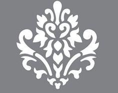 "Brocade Home Decor Decoration 12"" x 12"", americana decorstencilsbrocade motif, reusable"