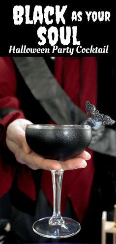 Msg 4 21+ Black As Your Soul : Halloween Cocktail #ad #UnmaskYourSpirit #NightOfTheBat