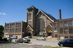 Abandoned  King Solomon / Temple Baptist Church-6100 14th St Detroit, MI (Built in 1917 as Temple Baptist Church,Later became King Solomon Baptist Church closed it doors 1990)