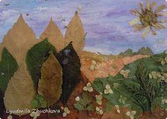 Картина панно рисунок Флористика Праздник осени Аппликация флористика Осенний пейзаж Материал природный фото 1