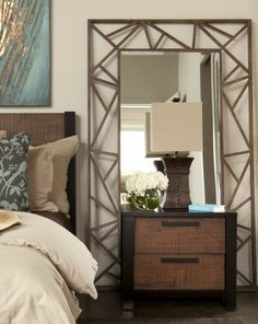 image result for bedrooms with bedside mirrors