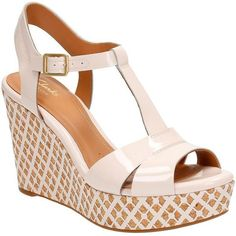 e3cab80ebacdef Clarks Womens Amelia Roma Wedge Sandal Pink Patent 65 M US    More info  could be found at the image url.