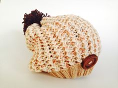 Knitted toddler hat cotton hat slouchy knit hat by TinyLoveGifts #pcfteam