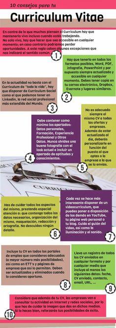 #infografía 10 consejos para tu CV
