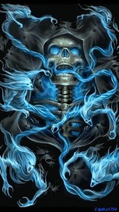 Who si next Dark Fantasy Art, Dark Art, Ghost Rider Wallpaper, Skull Wallpaper, Skull Tattoo Design, Skull Tattoos, Herobrine Wallpaper, Rauch Tattoo, Grim Reaper Art