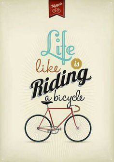 Retro Illustration Bicycle - buy this vector on Shutterstock & find other images. Poster Bike, Poster S, Cool Typography, Typography Design, Lettering, My Design, Graphic Design, Retro Illustration, Life Is Like