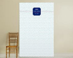 Personalized Nautical Dots Birthday Party Photo Backdrop