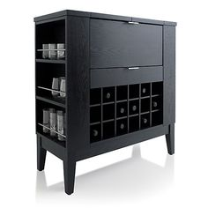 Captivating Parker Spirits Ebony Cabinet