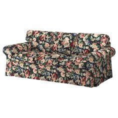 EKTORP Sofa, Lingbo multicolor - IKEA Sectional Sleeper Sofa, Loveseat Slipcovers, Cushions On Sofa, Ikea Fabric, Fabric Sofa, Leather Chaise Sofa, Lila Sofa, Ikea Ektorp Cover, Floral Sofa