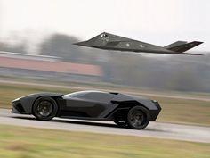 Lamborghini Ankonian and Stealth fighter.
