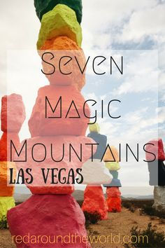 Visit the Seven Magic Mountains just outside of Las Vegas before it's gone!