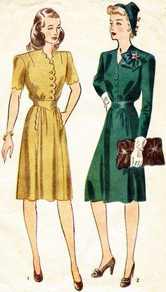 Forties Fashion | ... Women – Fashion History Inspired - Fashion Trends, Tips And Updates @Genevieve Jade Mermaid weddimg