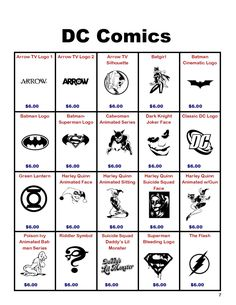 DC Comics Decals by FandomChasers on Etsy