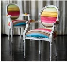 Image result for dining table with different coloured chairs