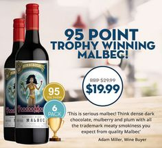 Is this the best Malbec in the country? Trophy winner + 95 points and under $20!‏ Cracka Wines