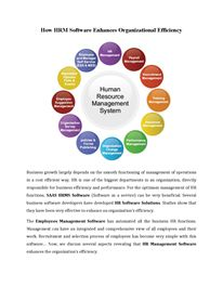 How HRM Software Enhances Organizational Efficiency Hr Management, Life Cycles, Software